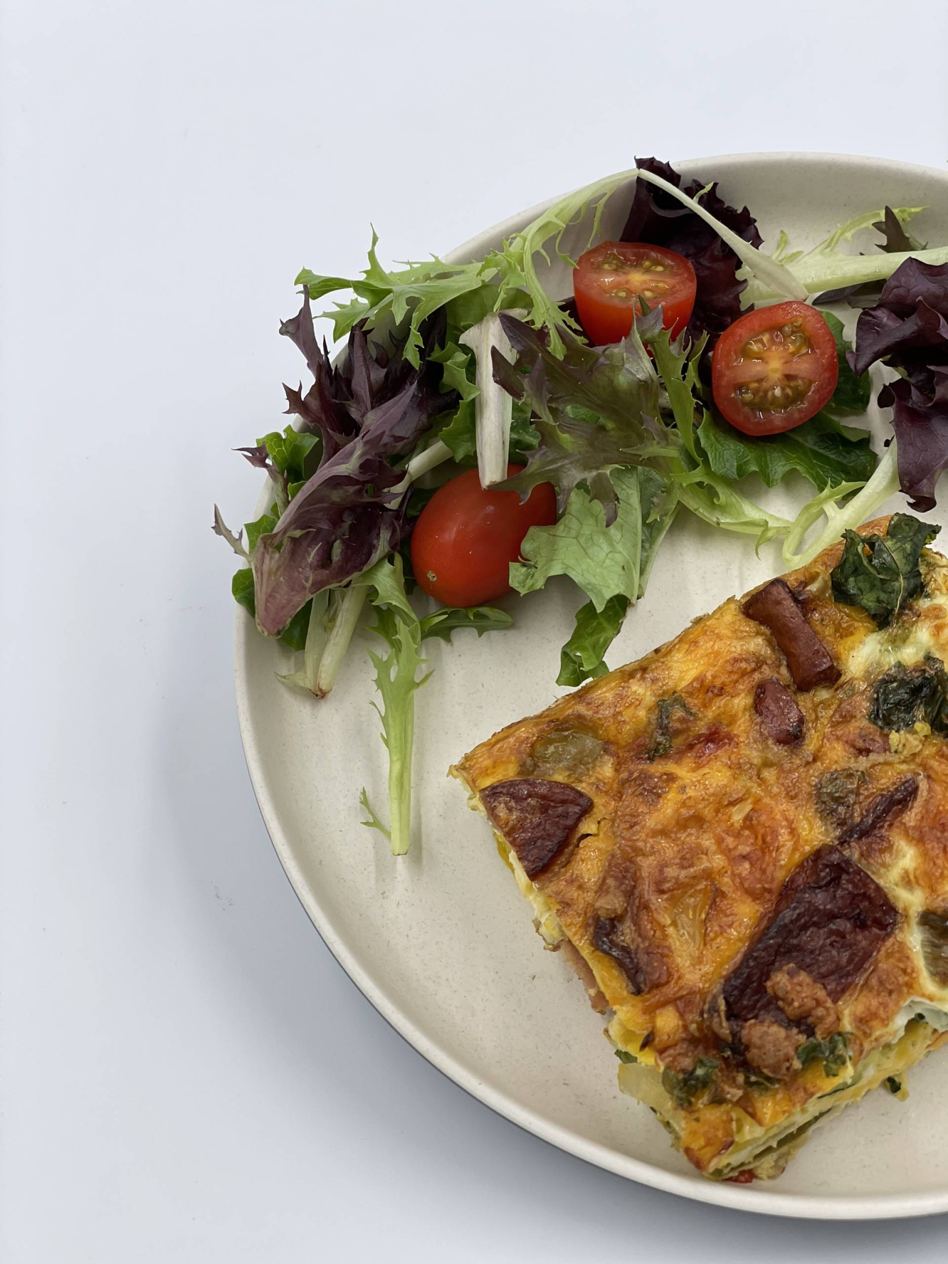 Breakfast Fritata | Served with Salsa & Spring Greens