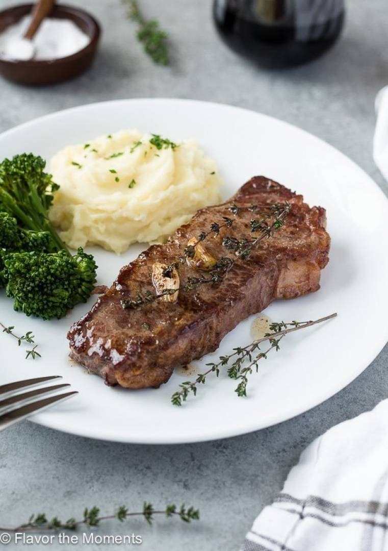 AAA Strip-loin Steak | Served with Mash Potatoes and Broccoli