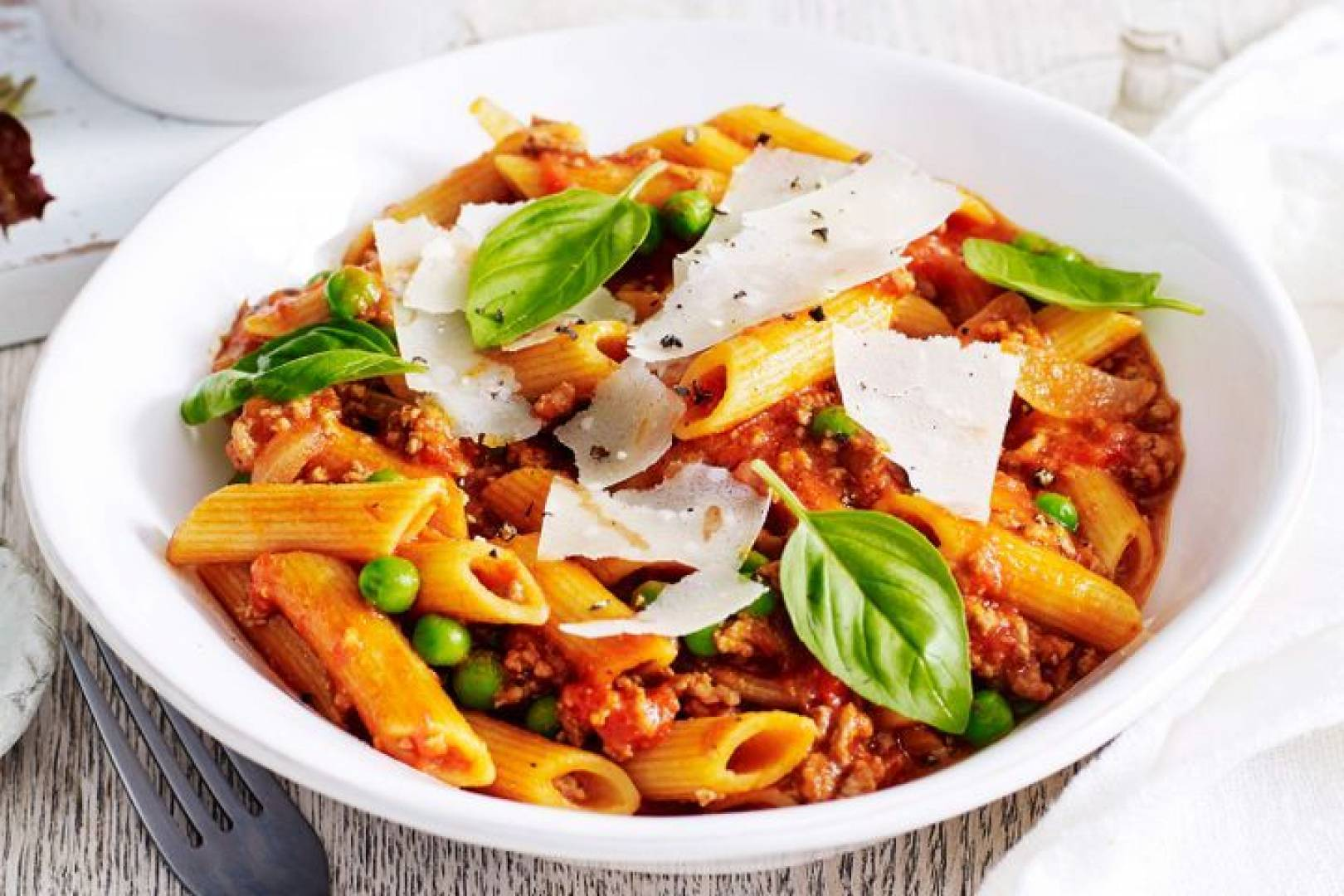 Beef Bolognese | Served with Penne and Geen Peas