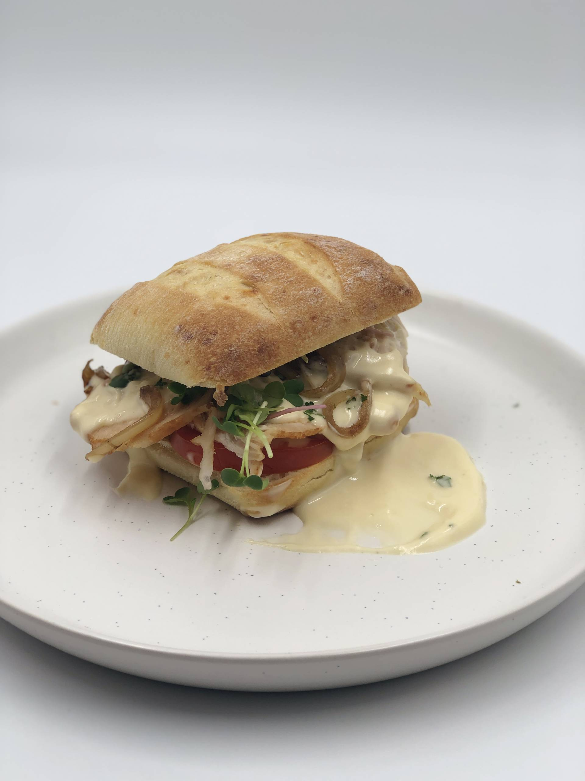 Ciabatta Turkey Sandwich | Served with Cheesy Mornay Sauce on the Side