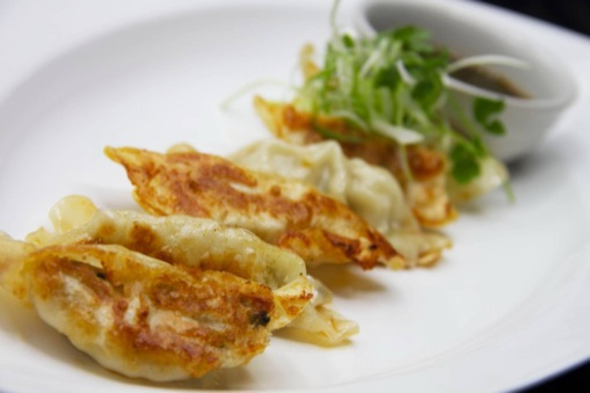 Chicken Gyozas | Served with Sesame Ginger Soy Sauce