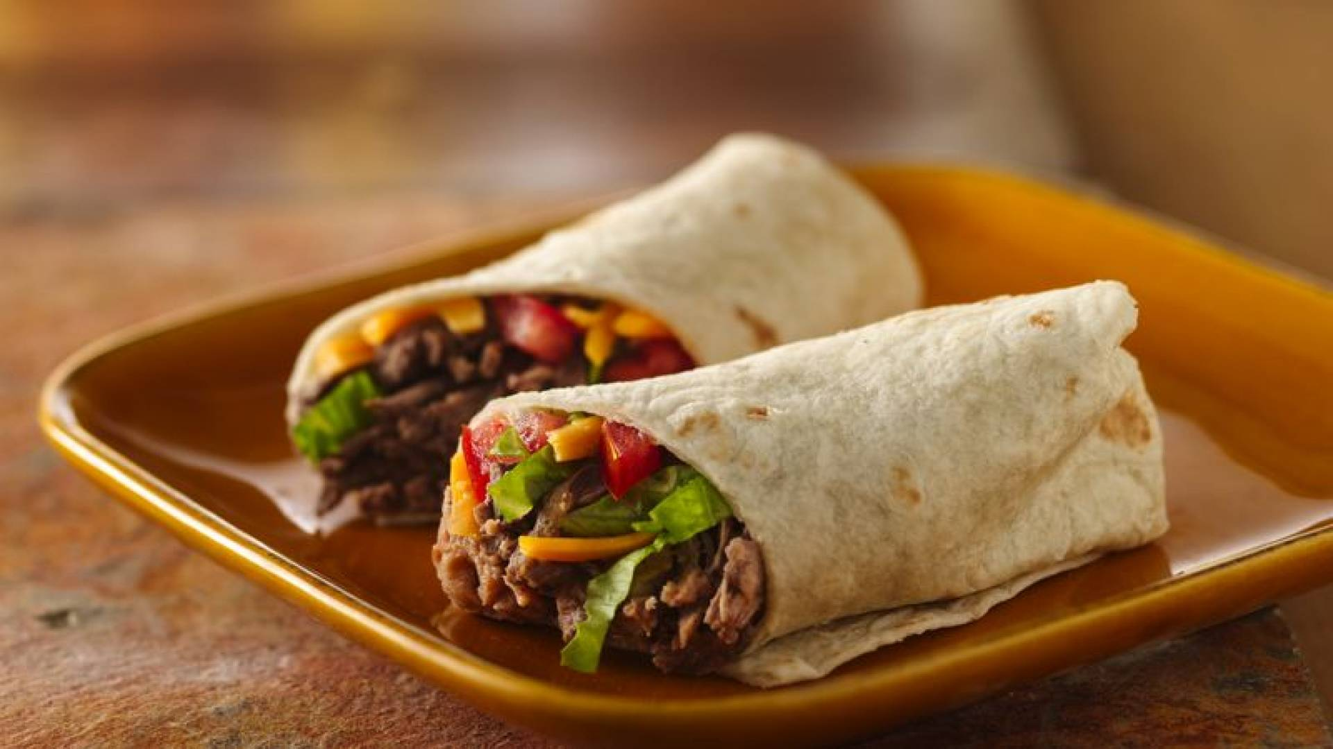Beef Burito | Served with Chipotle-lime BBQ sauce